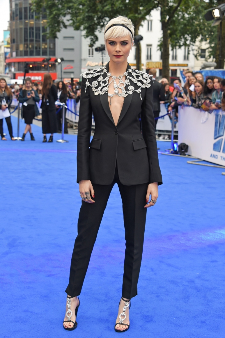 Cara Delevingne wearing Burberry to Valerian London Premiere, 24.7.17.jpg
