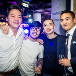 HONG KONG: Joel Neoh, founder of e-commerce platform Fave and Malaysia Gen.T Lister, with Hong Kong 2017 Gen.T Listers—architect Nicholas Ho, Prenetics founder Danny Yeung, and Dash Serviced Suites founder Aaron Lee.