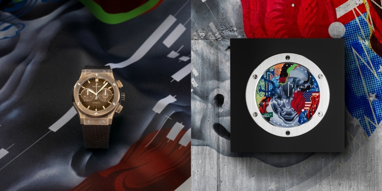 "CLASSIC FUSION 45mm CHRONOGRAPH ""EAST COAST BRONZE"" by Tristan Eaton-combo.jpg"