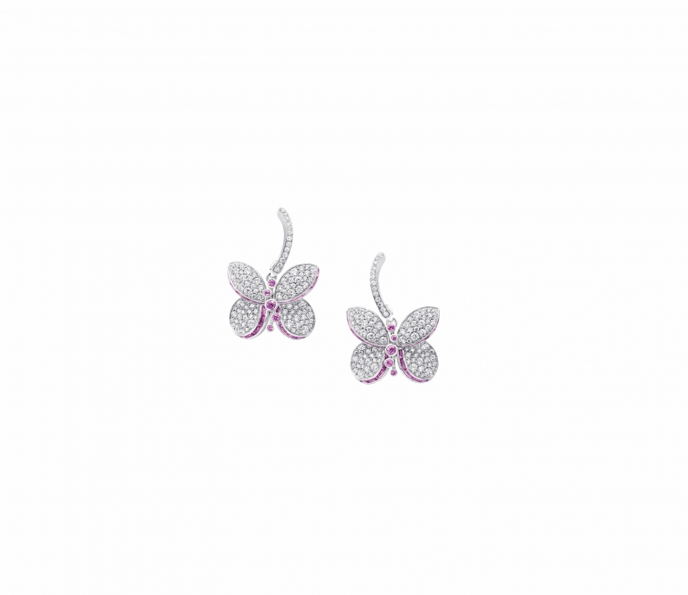 GRAFF Princess Butterfly Collection multishape pink sapphire and diamond earrings.jpg