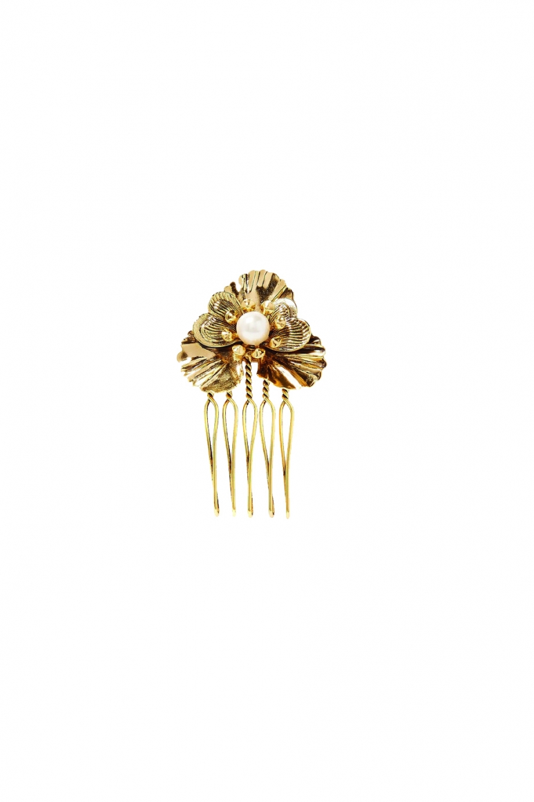 Poppy Petite set of three gold-plated faux pearl hair slides copy.jpg