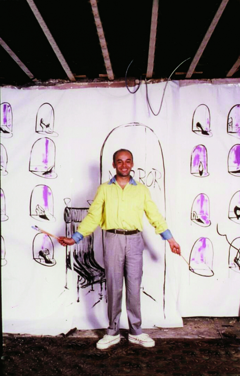 Christian Louboutin - during the installation of his first shop in 1991, Paris.jpg
