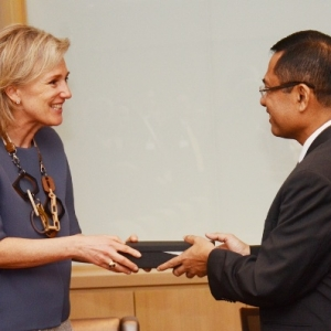HRH Princess Astrid of Belgium with Mr Saleh Husin