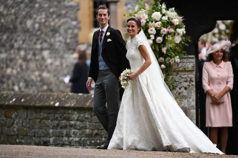 31652801c94 All The Details On Pippa Middleton s Gorgeous Wedding Dress  Get The Look! Pippa  Middleton s wedding gown by Giles Deacon  a classic redefined