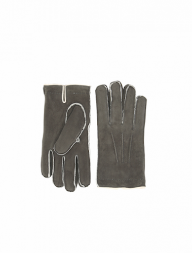 "<strong>Canali Gray Shearling Gloves</strong><div class=""shipments_and_returns slick-slide slick-cloned"" data-slick-index=""-1"">These gray shearling gloves with contrasting white details perfectly combine modern and casual and will protect your hands from the Winter cold in style.</div><div></div><div></div>"