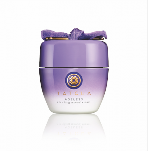 <strong>Tatcha Ageless Enriching Renewal Cream</strong>&lt;div class=&quot;page&quot; title=&quot;Page 115&quot;&gt; &lt;div class=&quot;layoutArea&quot;&gt; &lt;div class=&quot;column&quot;&gt; &lt;p&gt;&lt;span&gt;The clever people at Tatcha have copied the daily beauty rituals of the geisha. Ideal&amp;nbsp;&lt;/span&gt;for dry skin, Ageless Enriching Renewal Cream promotes microcirculation and collagen synthesis, which reduces&amp;nbsp;age spots and enhances radiance.&amp;nbsp;&lt;/p&gt; &lt;/div&gt; &lt;/div&gt; &lt;/div&gt;<div></div><div></div>