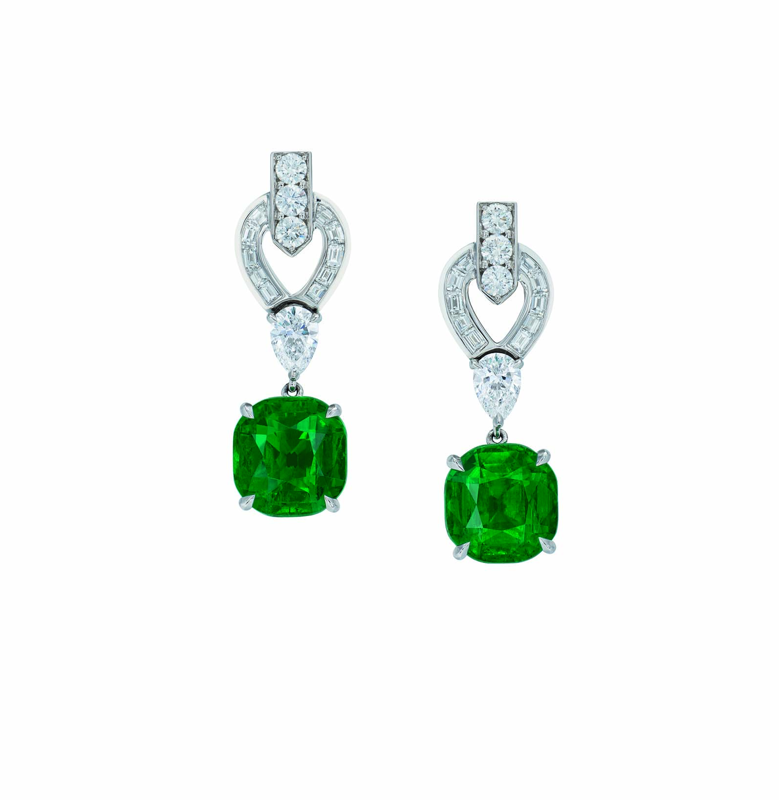 products cz green fashion oleg silver center emerald stud halo contemporary cut faux clear diamond stone studs cushion cubic zirconia earrings