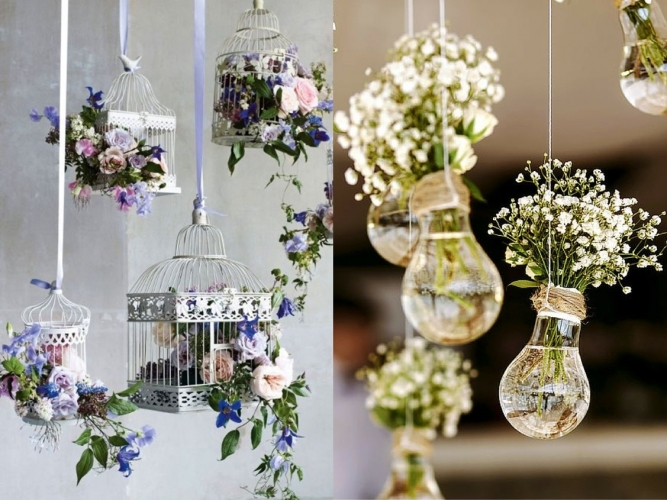 Lovely Hanging Flowers Flowers Have Been The Signature Decoration For Weddings  Forever, But That Doesnu0027t Mean That Hanging Flowers Should Be Ditched By  Couples ...