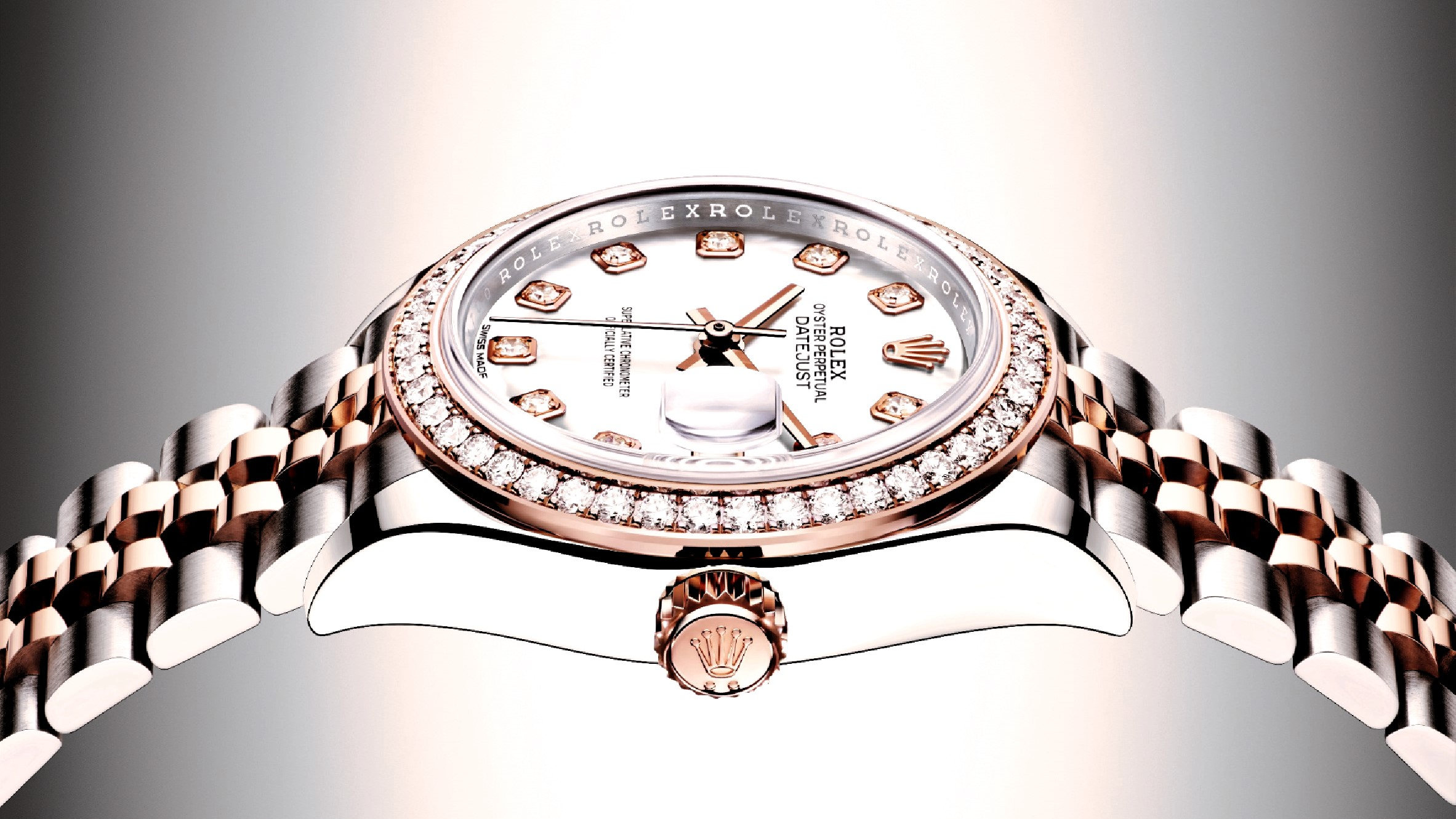 Reflection Of Beauty Rolex Oyster Perpetual Lady Date Indonesia Dazzle Guard Diamond Coating Tatler